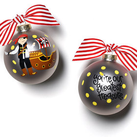 Pirate with Ship Christmas Ornament