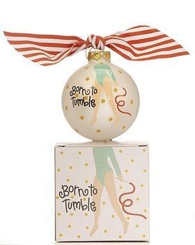 Small Size Born To Tumble Gymnast Christmas Ornament