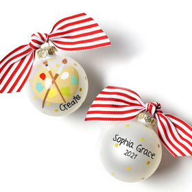 Personalized Small Size Create Painter's Palette Christmas Ornament