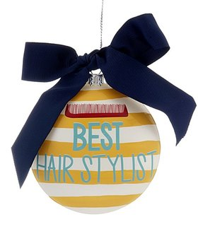 Personalized Best Hair Stylist Christmas Ornament