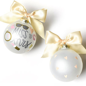 Miss to Mrs. Christmas Ornament