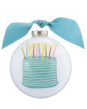 Personalized Happy Birthday Wishes Christmas Ornament