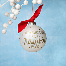 Personalized Rainbow of Hope Christmas Ornament