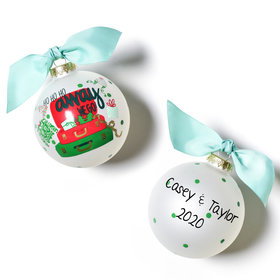 Personalized Away We Go Christmas Ornament