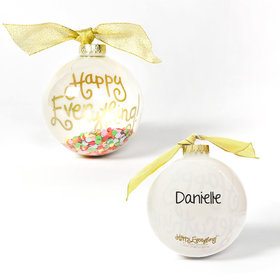 Personalized Happy Everything Confetti Christmas Ornament