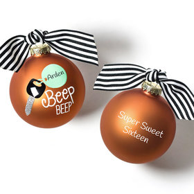 Personalized Beep Beep Car Christmas Ornament