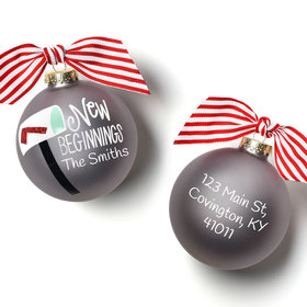 Personalized New Beginnings Mailbox Christmas Ornament