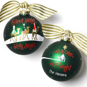 Personalized Silent Night Christmas Ornament