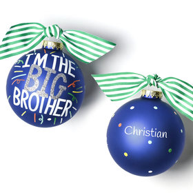Personalized Big Brother Popper Christmas Ornament