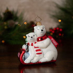 The Paws that Refreshes Christopher Radko Christmas Ornament