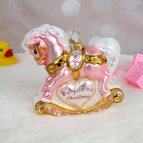 Baby's First Christmas Filly Christopher Radko Christmas Ornament