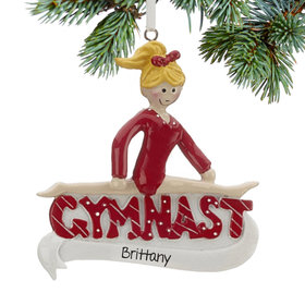 Personalized Gymnast Christmas Ornament