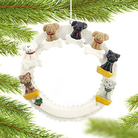 Pet Memorial Wreath (Up to 7 Pets) Christmas Ornament