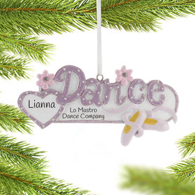 Personalized Dance Word Christmas Ornament