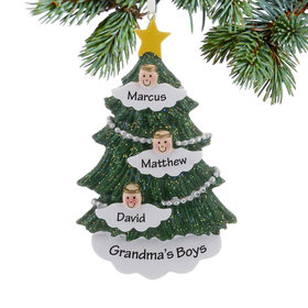Personalized Halo Angel Tree 3 Christmas Ornament