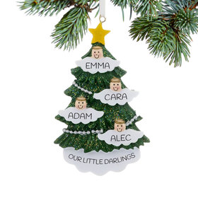 Personalized Halo Angel Tree 4 Christmas Ornament