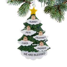 Personalized Halo Angel Tree 5 Christmas Ornament