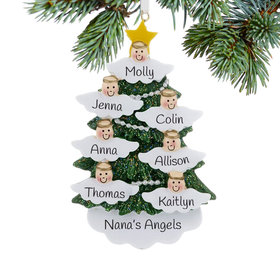 Personalized Halo Angel Tree 7 Christmas Ornament