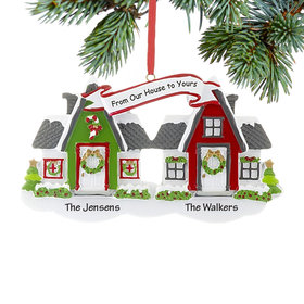 Personalized From Our House to Yours Neighbors Christmas Ornament