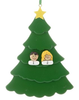 Personalized Custom People Family Tree 2 Christmas Ornament