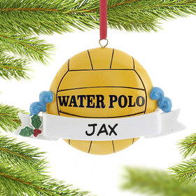 Personalized Water Polo Ball Christmas Ornament