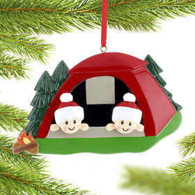Camping Tent Couple Christmas Ornament
