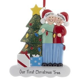 Personalized Couple with Christmas Lights Christmas Ornament