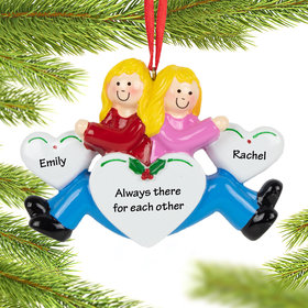 Personalized Twins, Sisters, Cousins or Friends Christmas Ornament