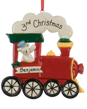 Personalized Choo Choo Train Christmas Ornament
