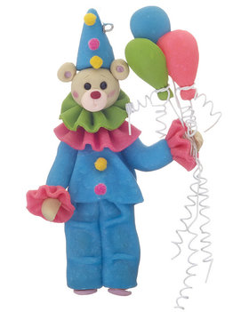 Personalized Clown Bear Christmas Ornament