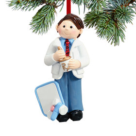 Pharmacist with Mortar and Pestle Christmas Ornament