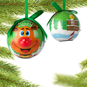 Personalized Rudolph The Red Nosed Reindeer Christmas Ornament