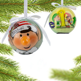 Personalized Blinking Nose Elf Christmas Ornament
