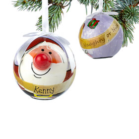 Personalized Blinking Nose Santa Christmas Ornament