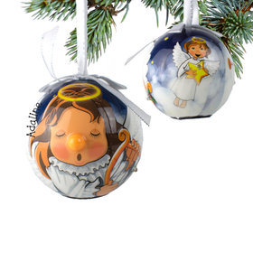 Personalized Blinking Nose Angel Christmas Ornament