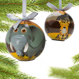 Personalized Blinking Nose Elephant Christmas Ornament