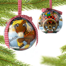 Personalized Blinking Nose Horse Christmas Ornament