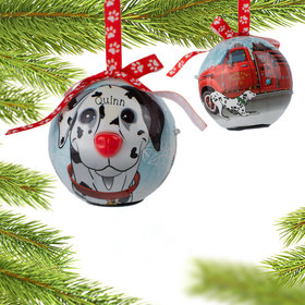 Personalized Blinking Nose Dalmatian Christmas Ornament