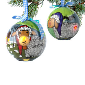 Personalized Blinking Nose Sheep Christmas Ornament