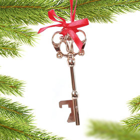 Personalized Santa Magic Key Christmas Ornament