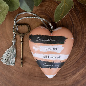 Personalized Amazing Daughter Heart Christmas Ornament