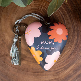 Personalized Mom I Love You Heart Christmas Ornament