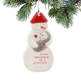 Personalized First Christmas as a Grandma Christmas Ornament