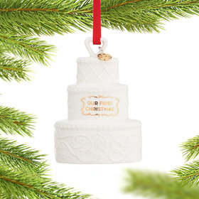 Our First Christmas Cake 2021 Ornament Christmas Ornament