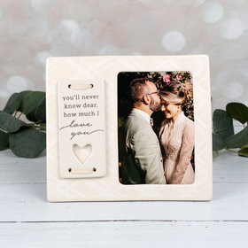Picture Frame You'll Never Know Dear How Much I Love You