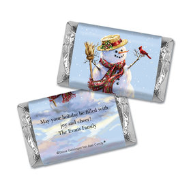 Personalized Christmas Silent Night Lane Mini Wrappers Only