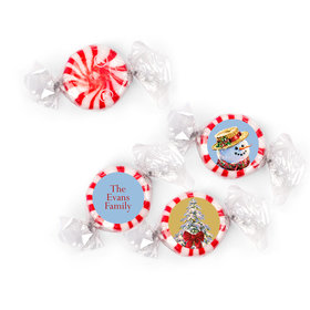 Personalized Christmas Silent Night Lane Starlight Mints (405 Pack)
