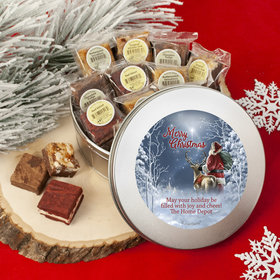 Personalized Starry Night Santa Tin with Brownies