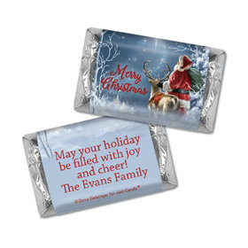 Personalized Christmas Starry Night Santa Hershey's Miniatures