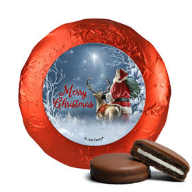 Christmas Starry Night Santa Chocolate Covered Oreos
